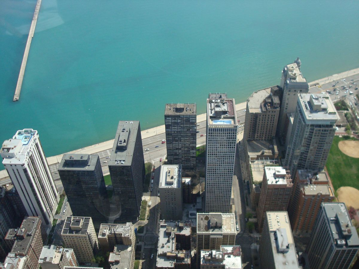 View from the Hancock Tower, Chicago