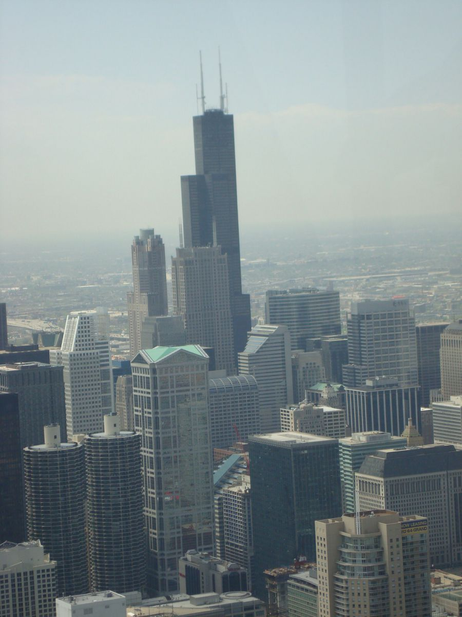 Sears Tower seen from the Hancock Tower, Chicago