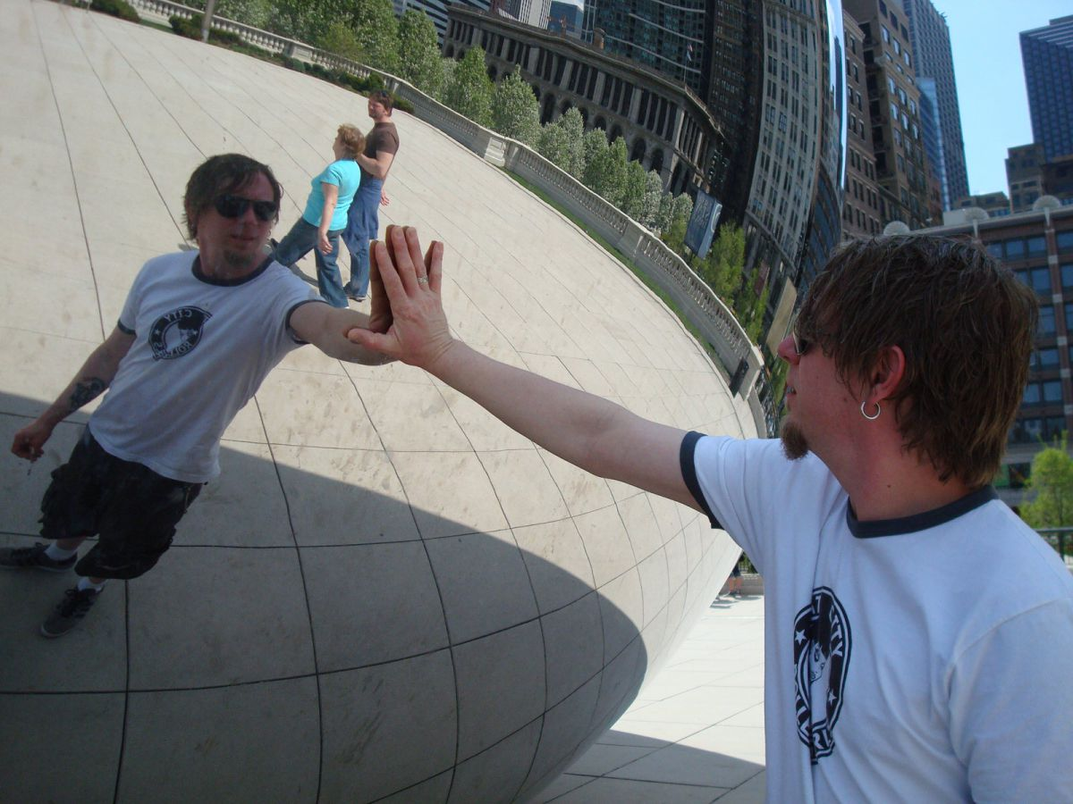 Cloud Gate sculpture in Millennium Park, Chicago