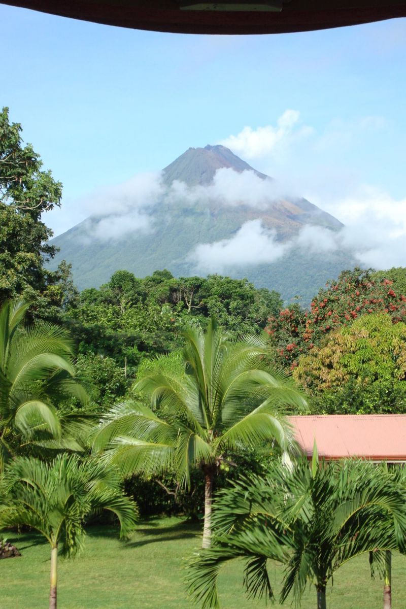 Arenal Volcano view from Hotel Monte Real, La Fortuna, Costa Rica
