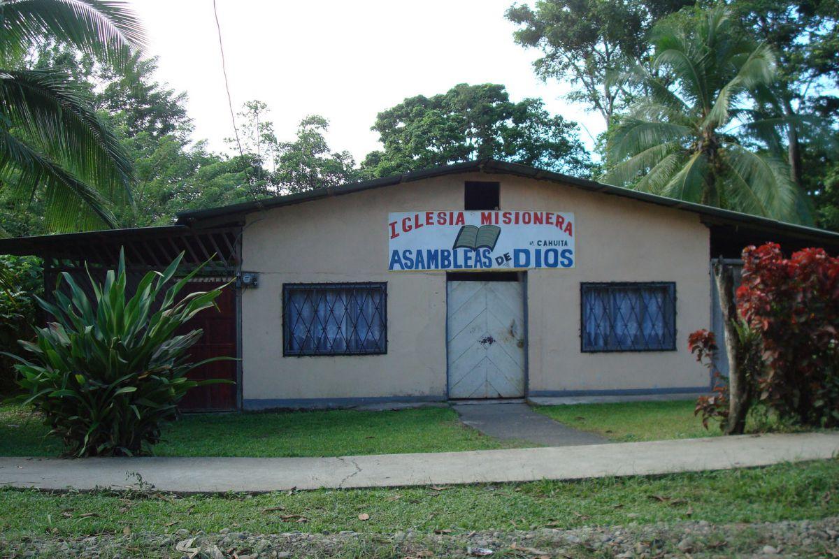 local church, Cahuita, Costa Rica