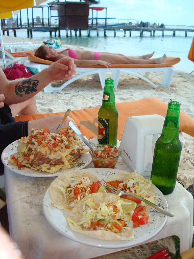 fish tacos Playa Norte Isla Mujeres
