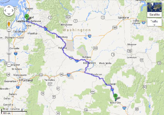 Seattle to Baker City