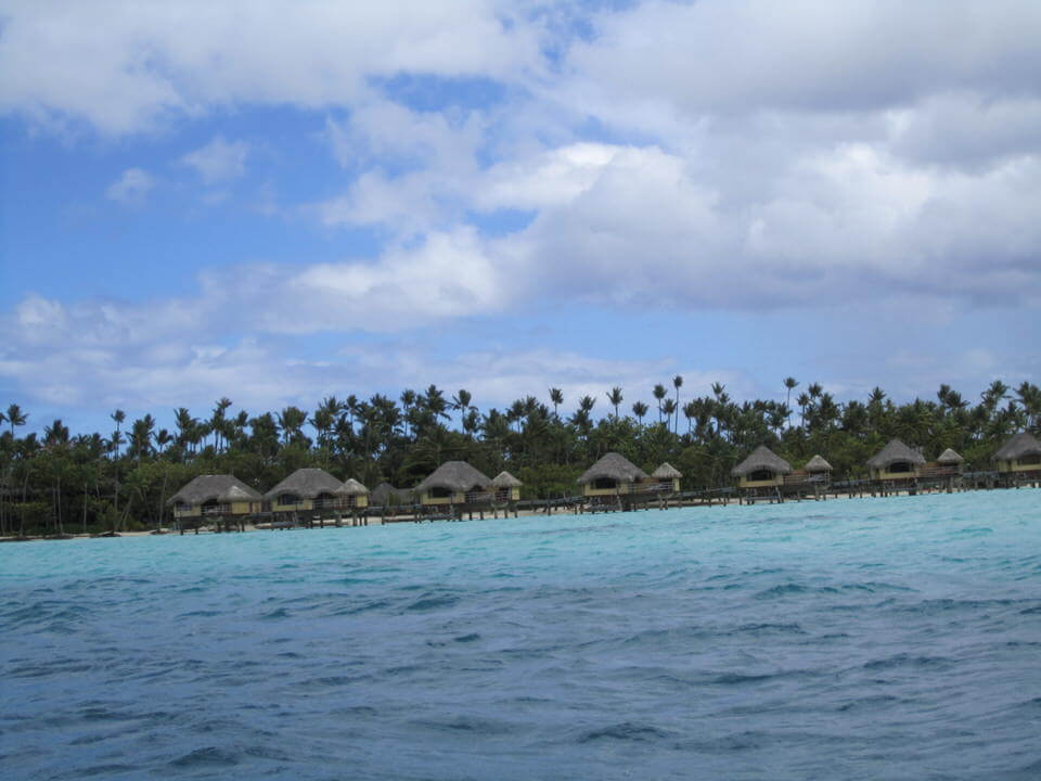 Tahaa resort bungalows seen from the property