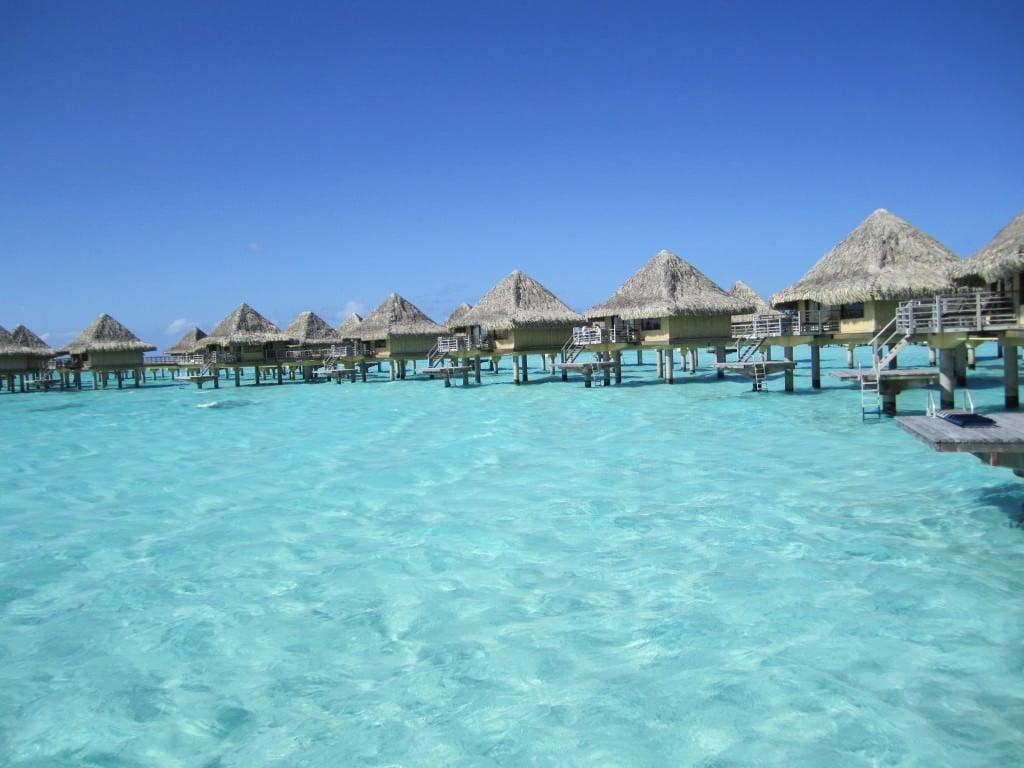 Overwater bungalows Bora Bora Tahiti