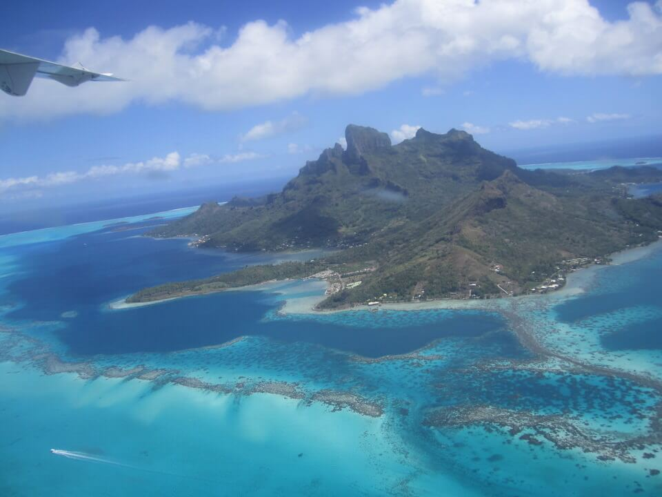 Bora Bora view from the plane