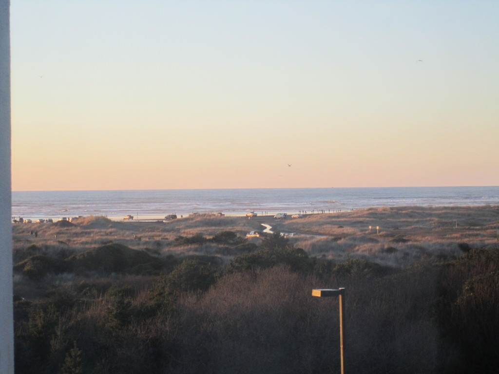 View from our hotel room at Guest House International Ocean Shores