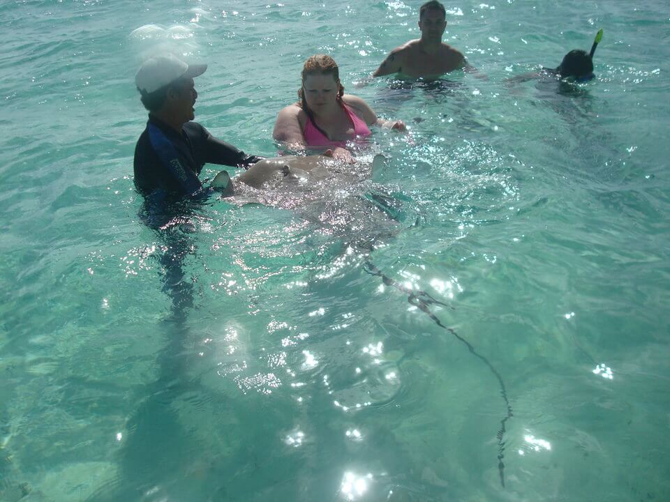 Swimming with sting rays, Bora Bora
