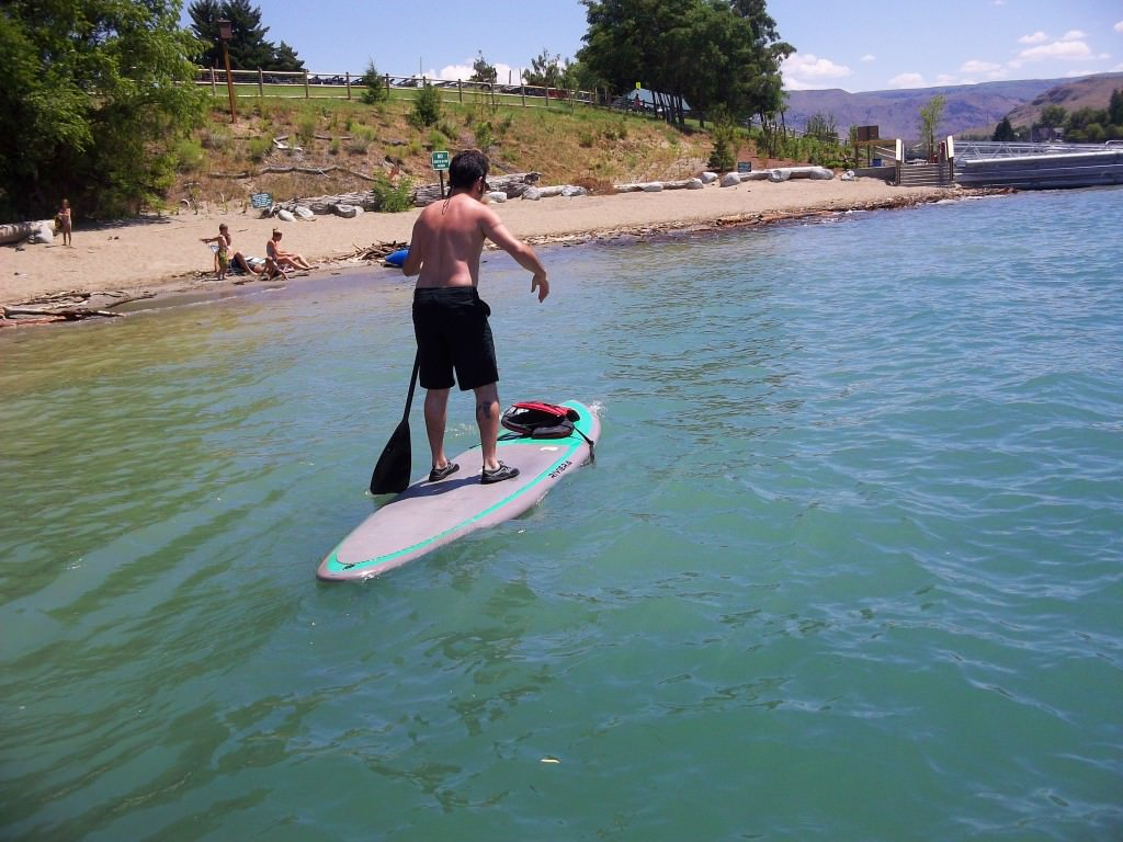Paddle boarding Lake Chelan