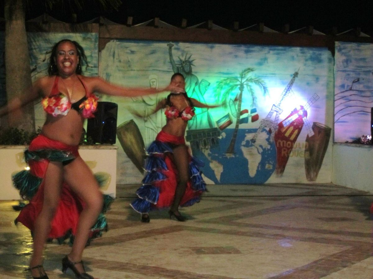 """""""cultural"""" Latin American dance show for the tourists at Sanctuary Cap Cana Resort, Dominican Republic"""