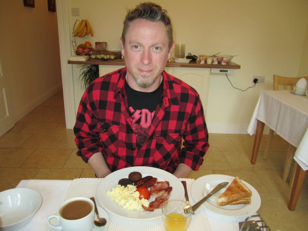 Irish breakfast at Avondale B&B, Cork Ireland