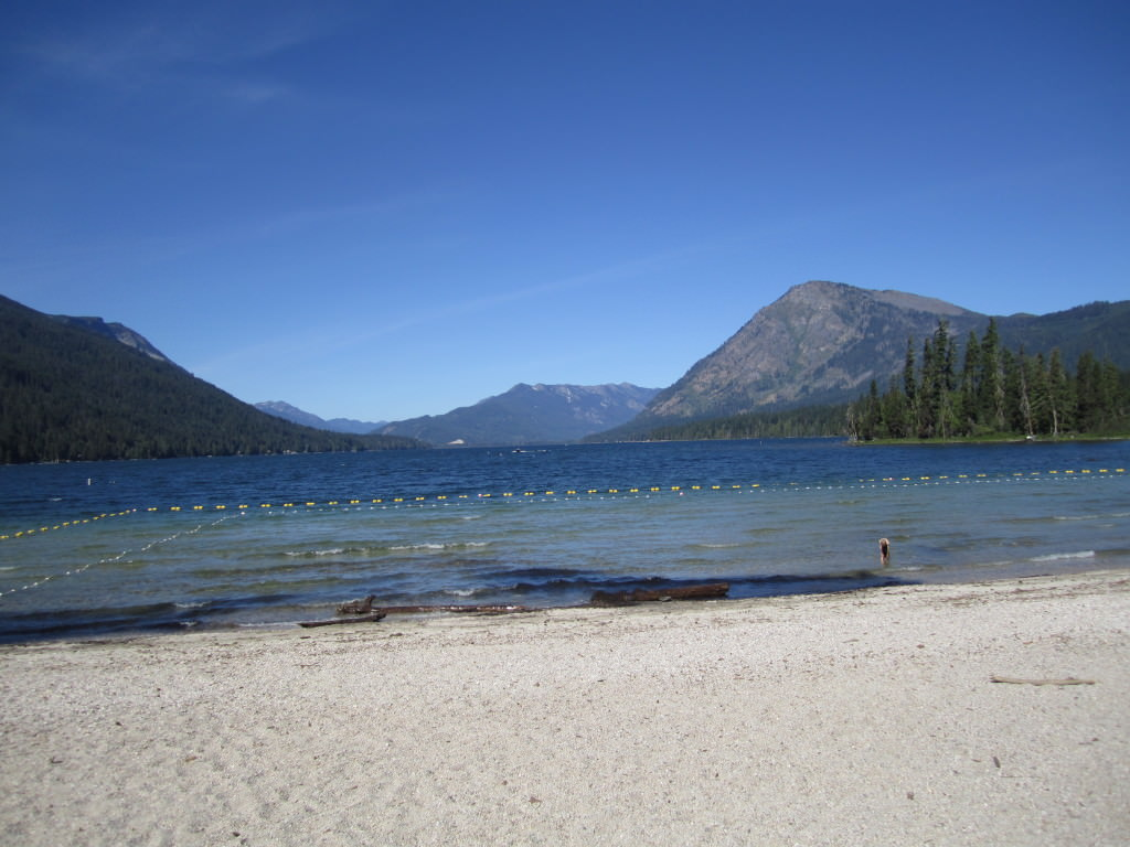 Lake Wenatchee State Park swim beach