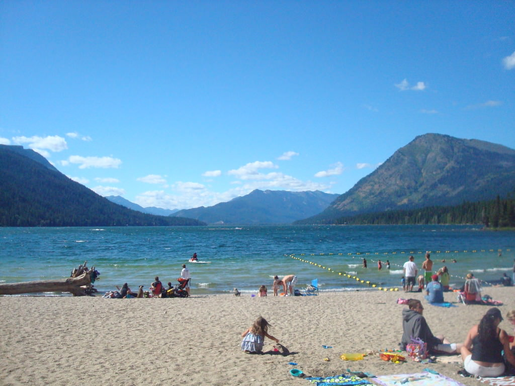 Lake Wenatchee State Park swim beach