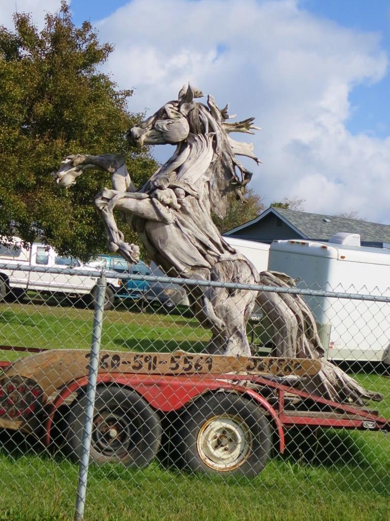 Grayland driftwood horse sculpture