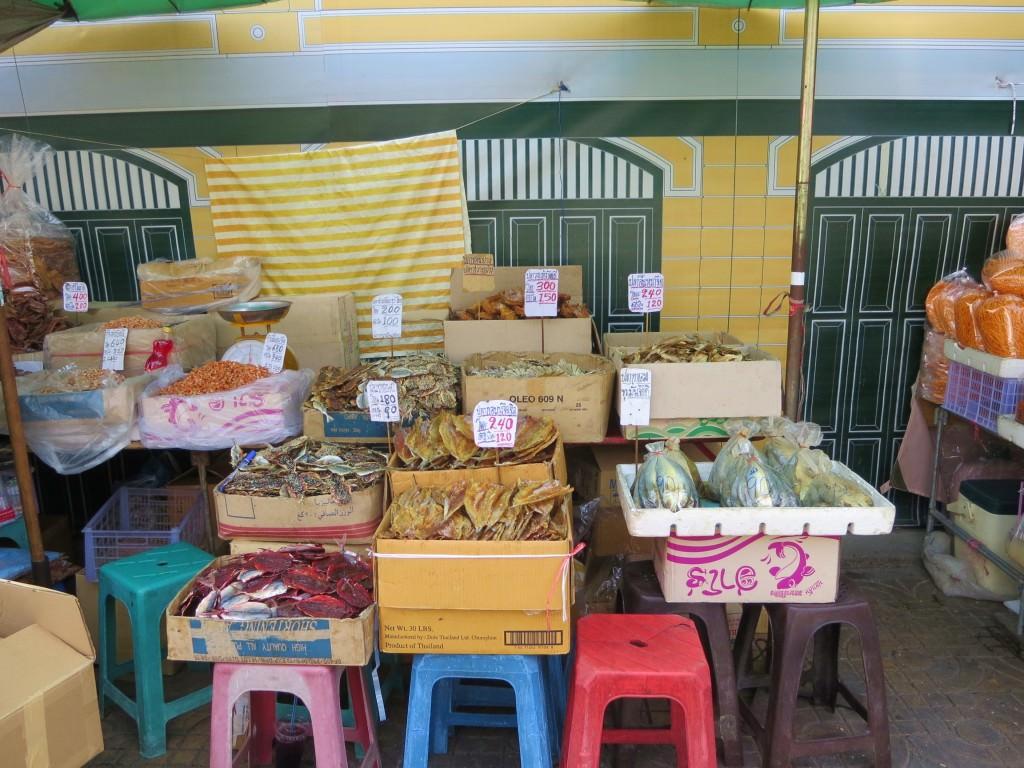 Dried fish at the market in Bangkok Thailand 399