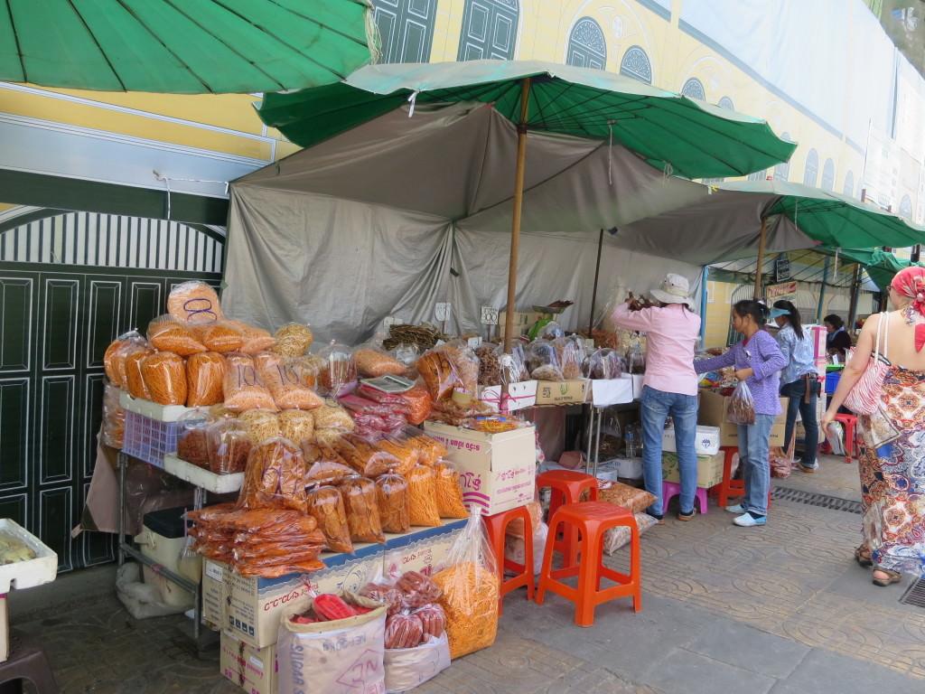 Chilis and fish at Bangkok market Thailand 400