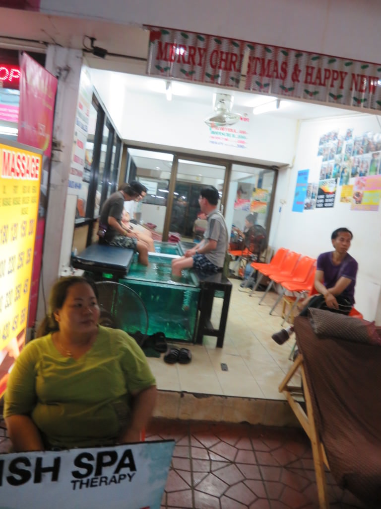 fish spa Khao San Road Bangkok Thailand 426
