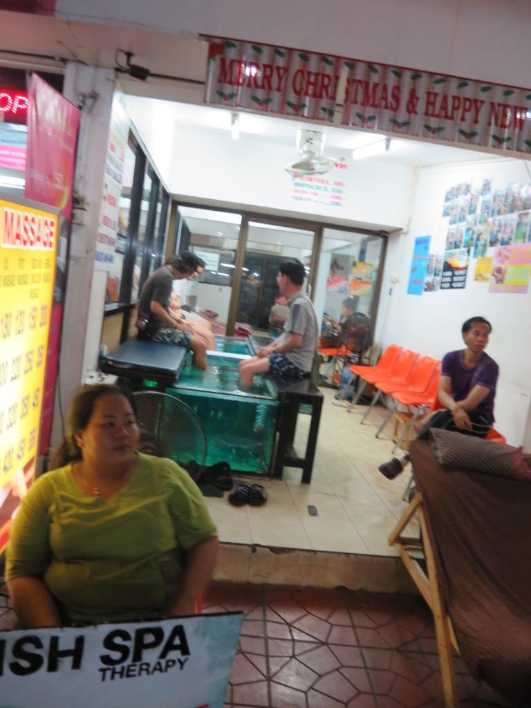 fish spa Khao San Road Bangkok Thailand 426