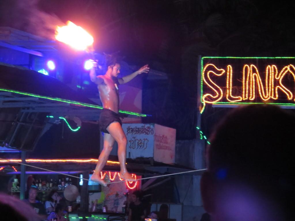 Slinky Bar fire show Phi Phi Thailand 449