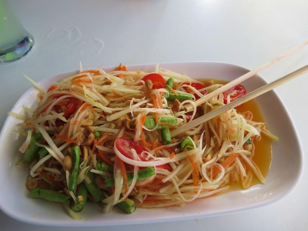 Papaya salad at Papaya Restaurant Phi Phi Thailand 456