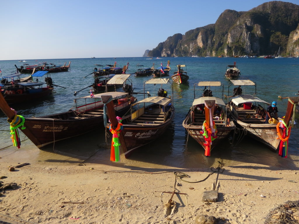 Longtail boats Phi Phi Don Thailand 464