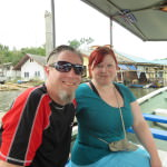 Boat ride to soft shell crab farm restaurant, Chanthaburi Thailand