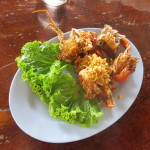 Fried soft shell crab Chanthaburi Thailand