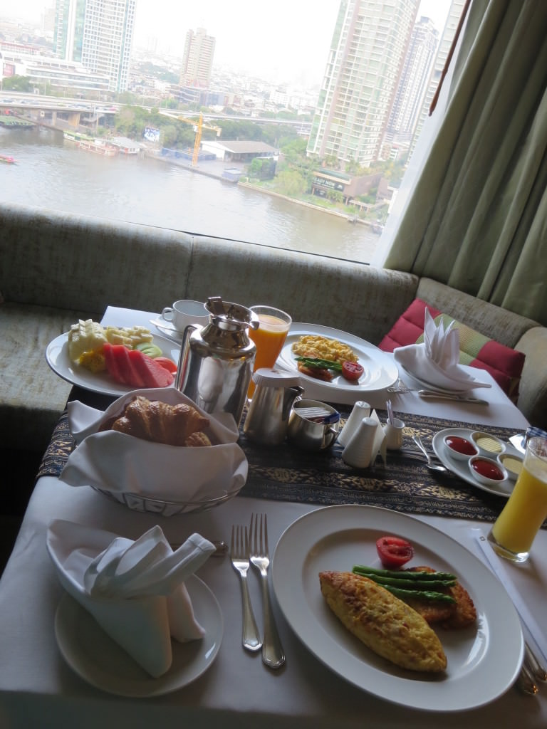Shangri-La room service breakfast Bangkok Thailand 689