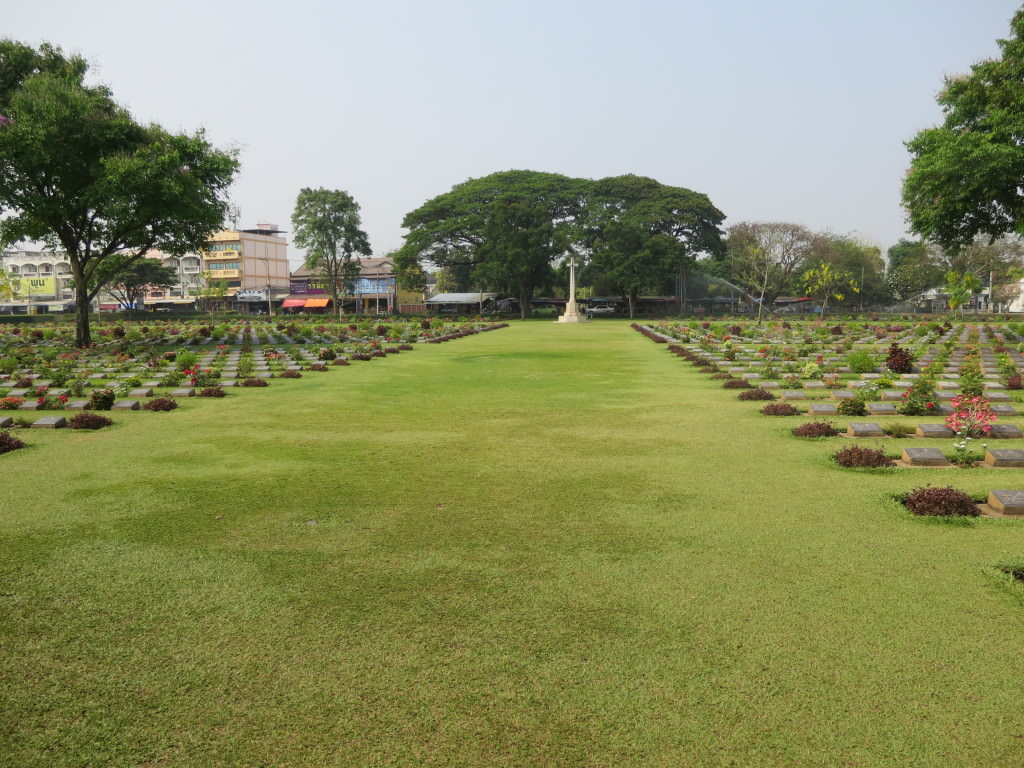 Kachanaburi War Cemetery Thailand