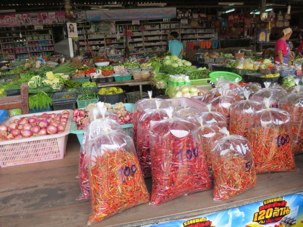 Thai market chilis