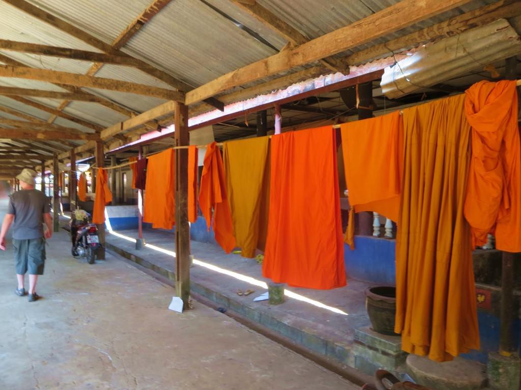 Buddhist monk house in Songkhlaburi Thailand