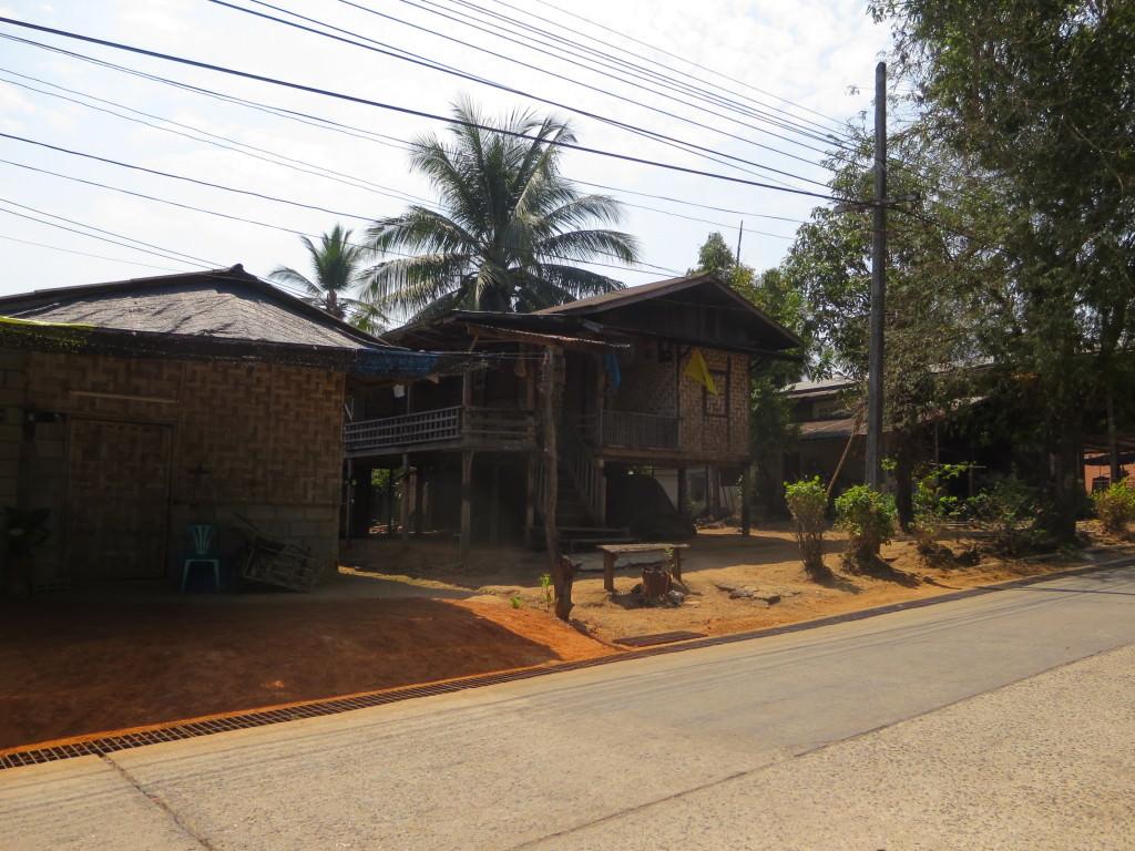 traditional Thai house in Songkhlaburi Thailand
