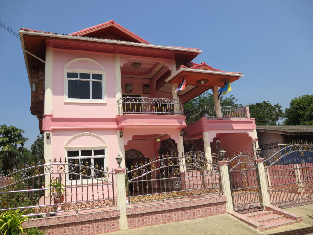 upper class Thai house in Songkhlaburi Thailand