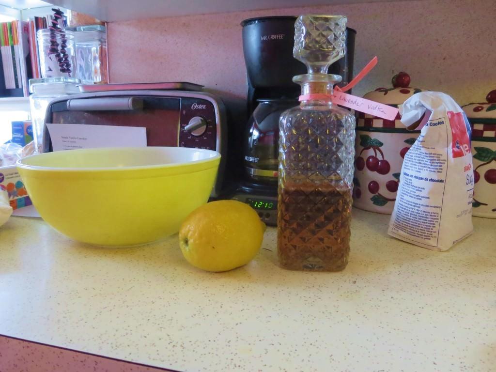 Boozy Lavender Lemon Cake