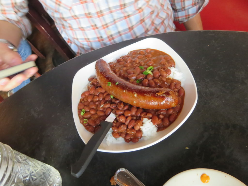 Smoked andouille sausage with red beans and rice