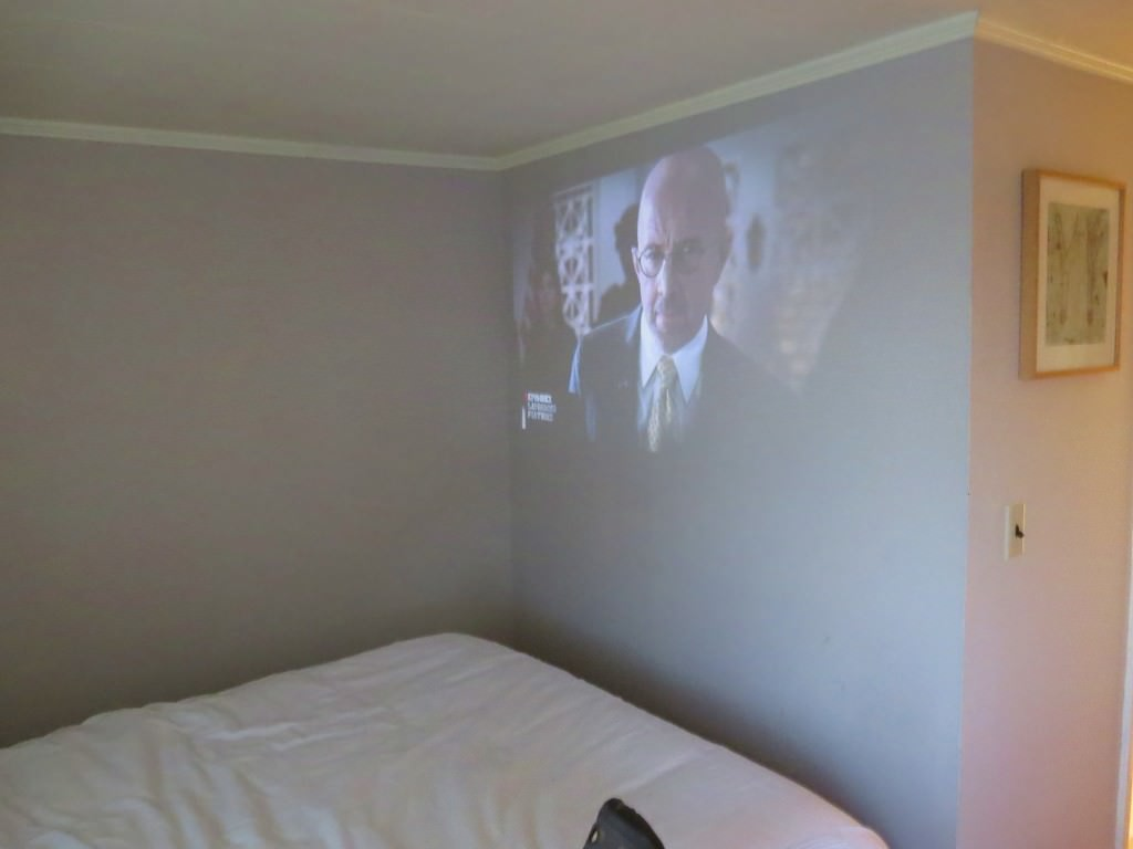 Watching movies with a Roku projector