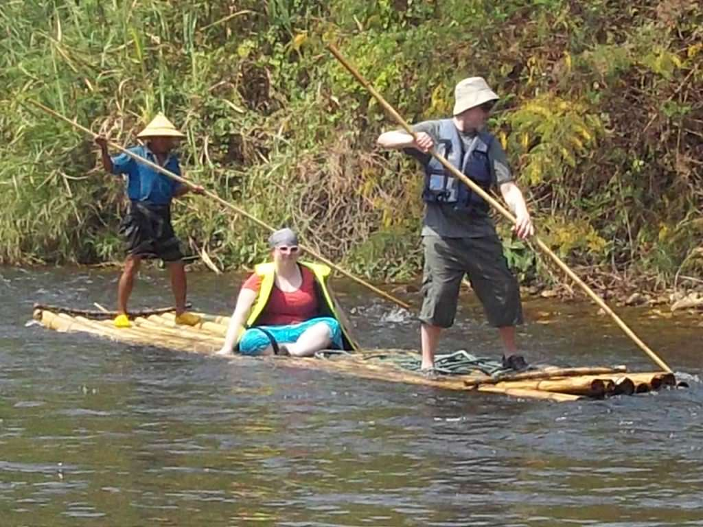 bamboo rafting Thailand 184
