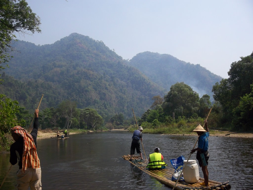 bamboo rafting Thailand 186