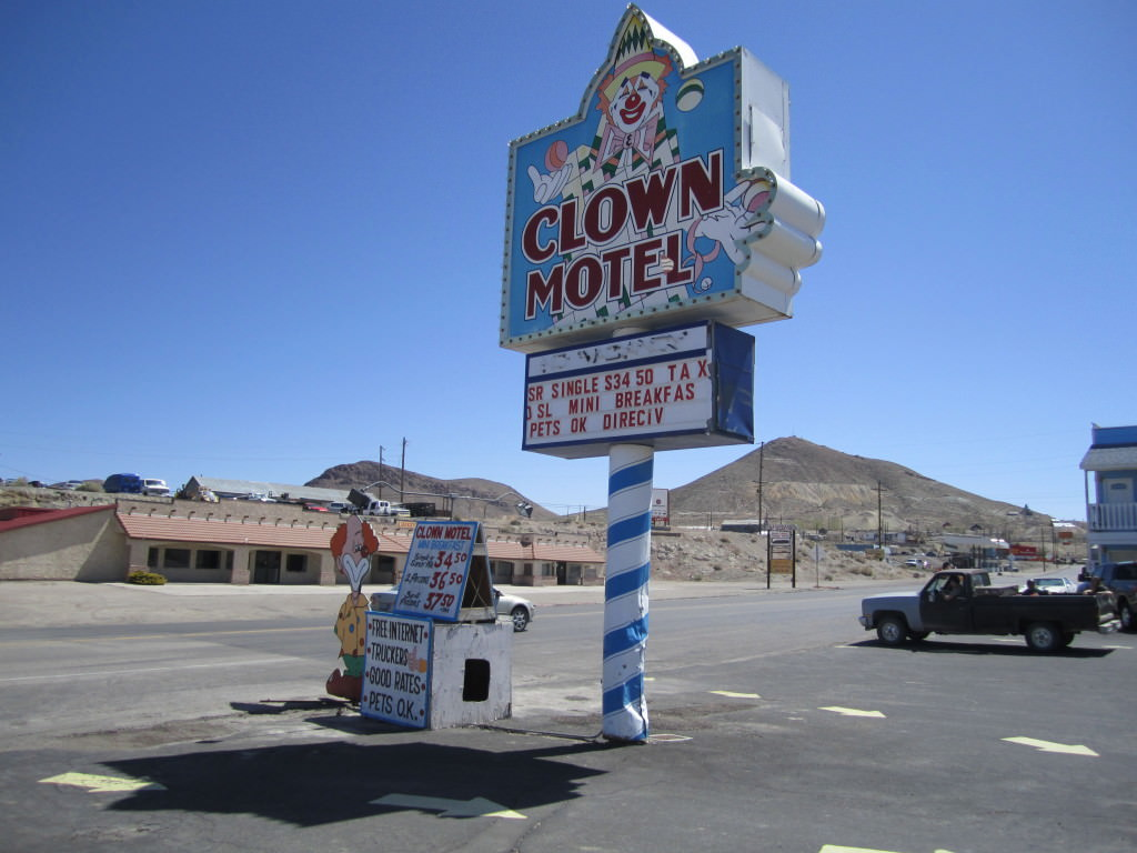 The Clown Motel in Tonopah, Nevada