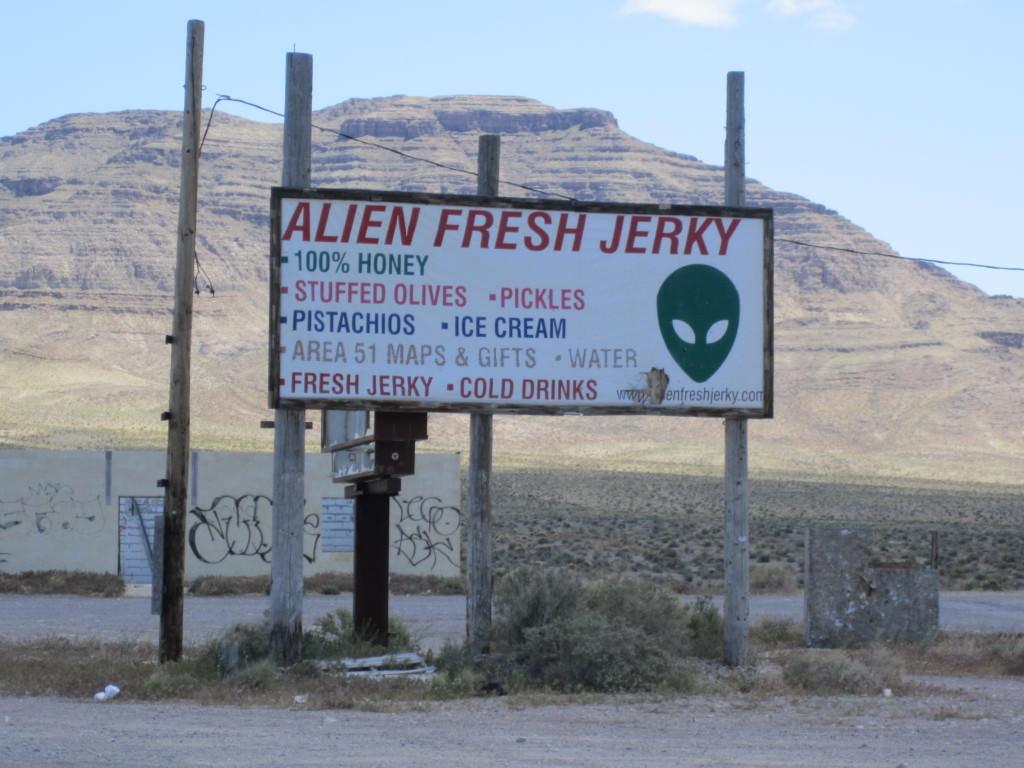 Alien jerky Extraterrestrial Highway, Nevada