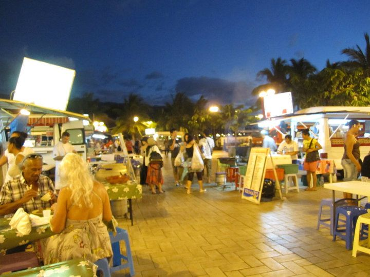 Night market in Papeete, Tahiti