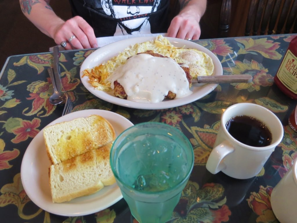 Chicken fried steak at The Apple Cup Cafe Chelan