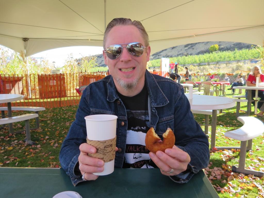 Fall donuts at Orondo Cider Works WA