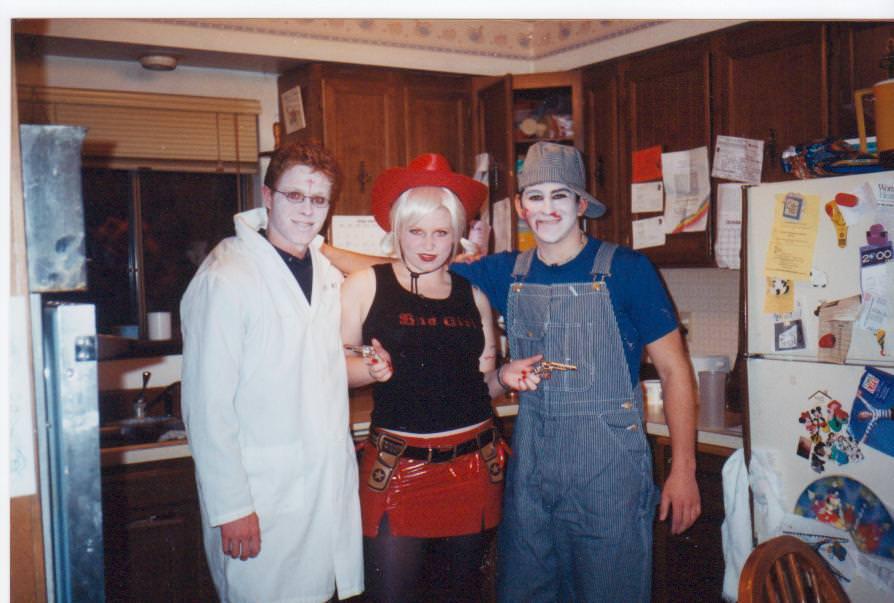 Homemade Halloween costume vampire cowgirl