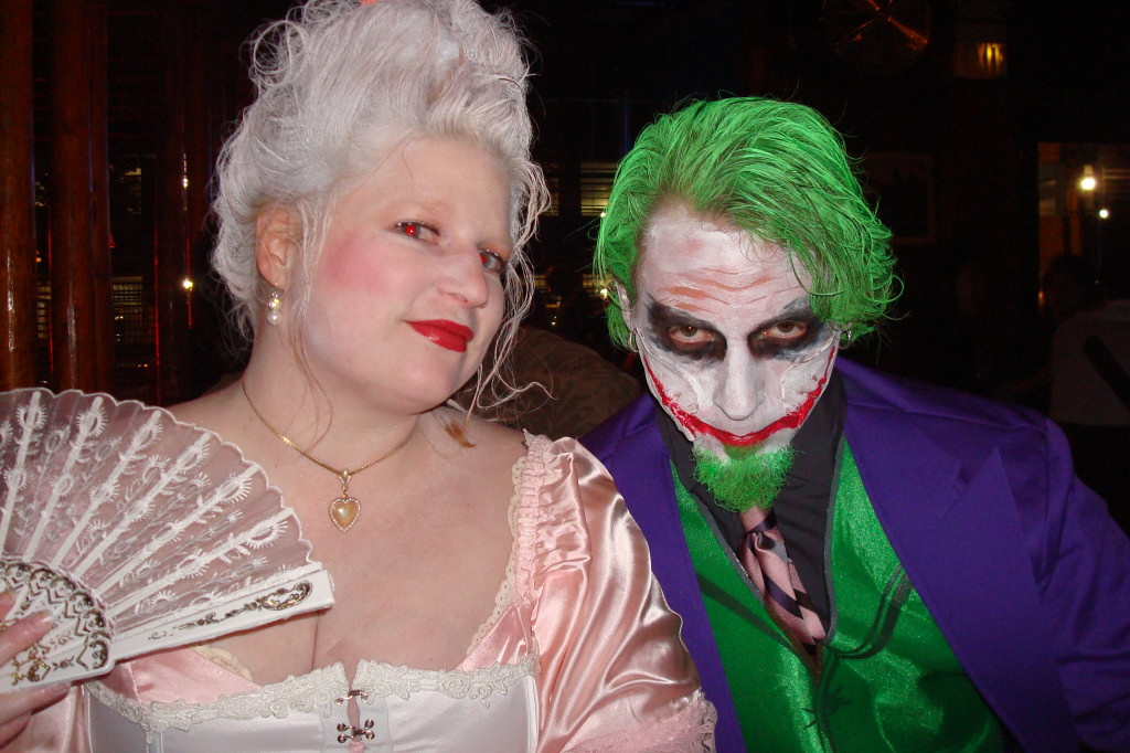 Homemade Halloween costume Marie Antoinette and The Joker