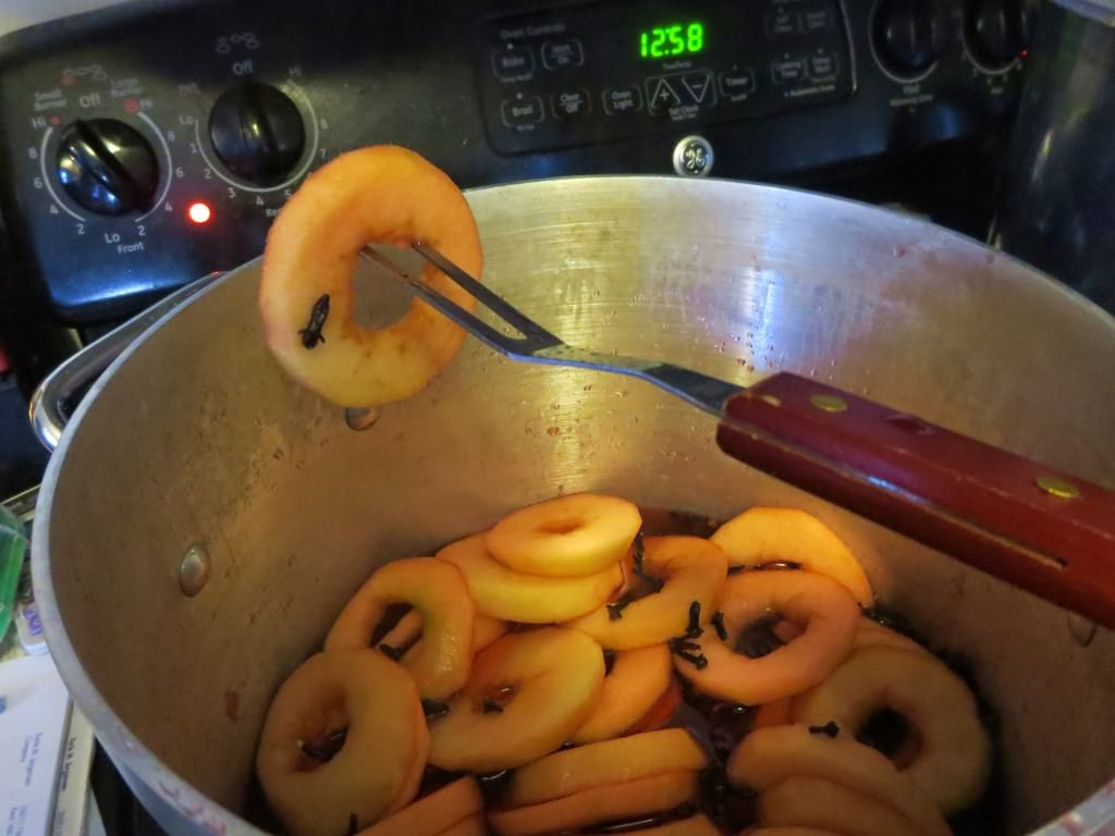 how to make spiced apple rings