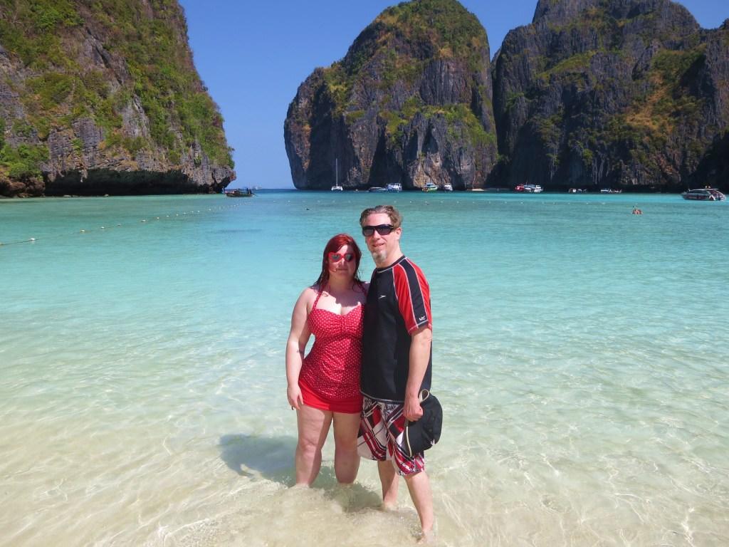 At Maya Bay in the Phi Phi Islands 2014