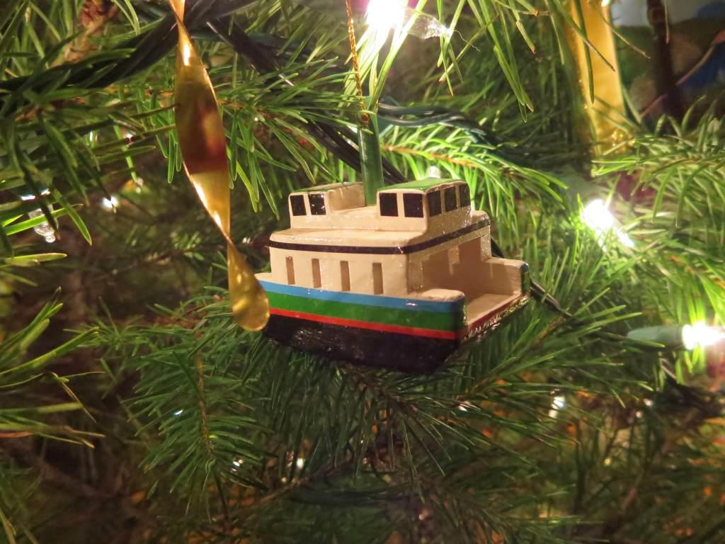 Friday Harbor ferry boat Christmas ornament
