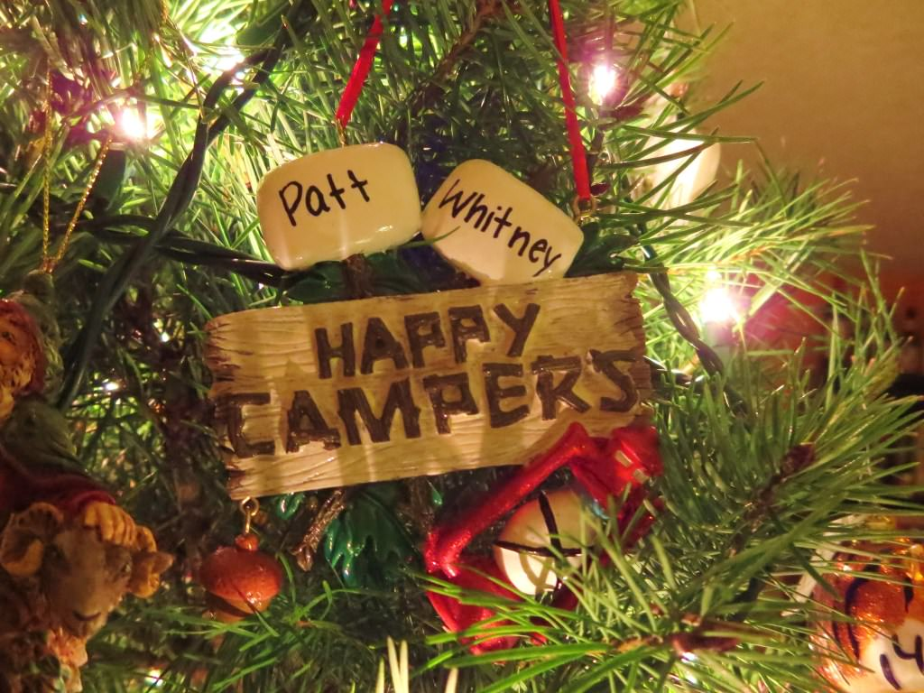 camping Christmas ornament