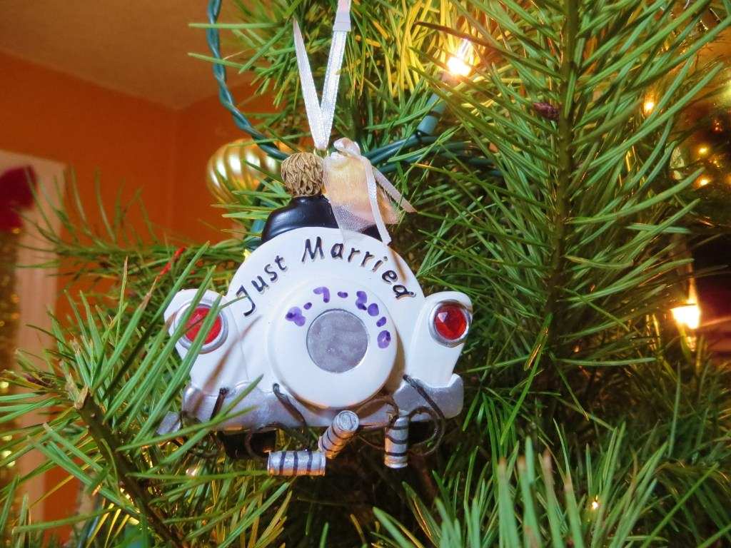 our lives in ornaments wedding Christmas ornament